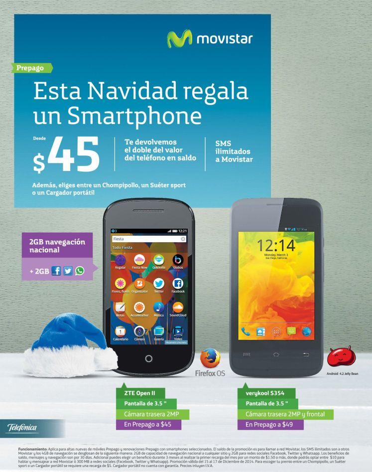 Telefonica movistar ofertas smartphone prepago - 15dic14
