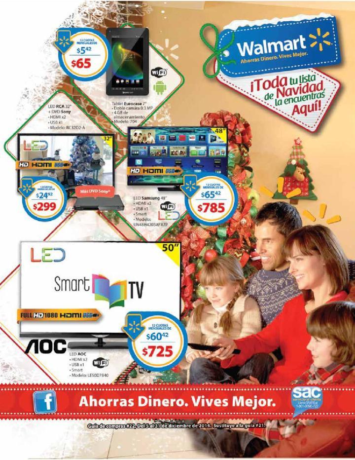WALMART catalogo Lista de Navidad 2014