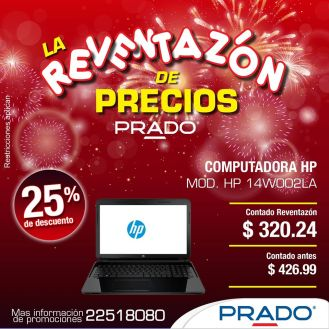 computadora HP con 25 off descuento