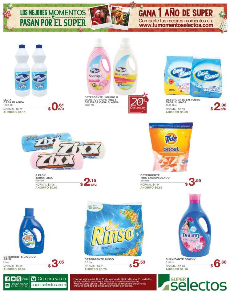 detergentes ofertas selectos - 12dic14
