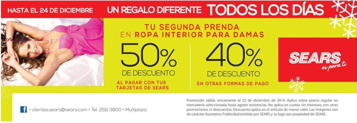 difeerent gift each day SEARS - 22dic14