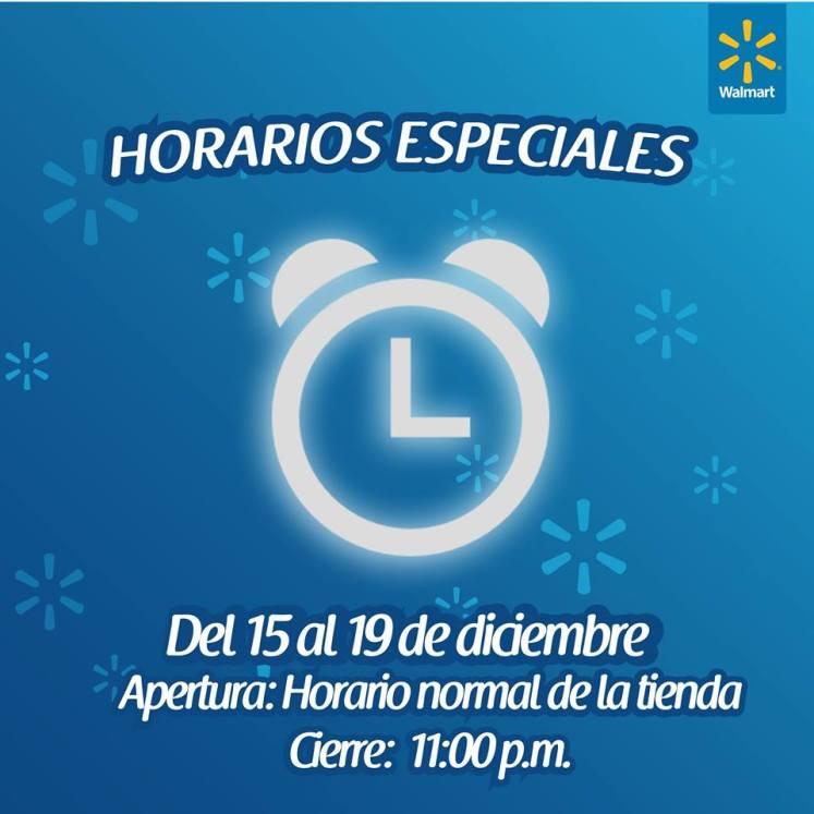 horario de noches de compras WALMART - 19dic14