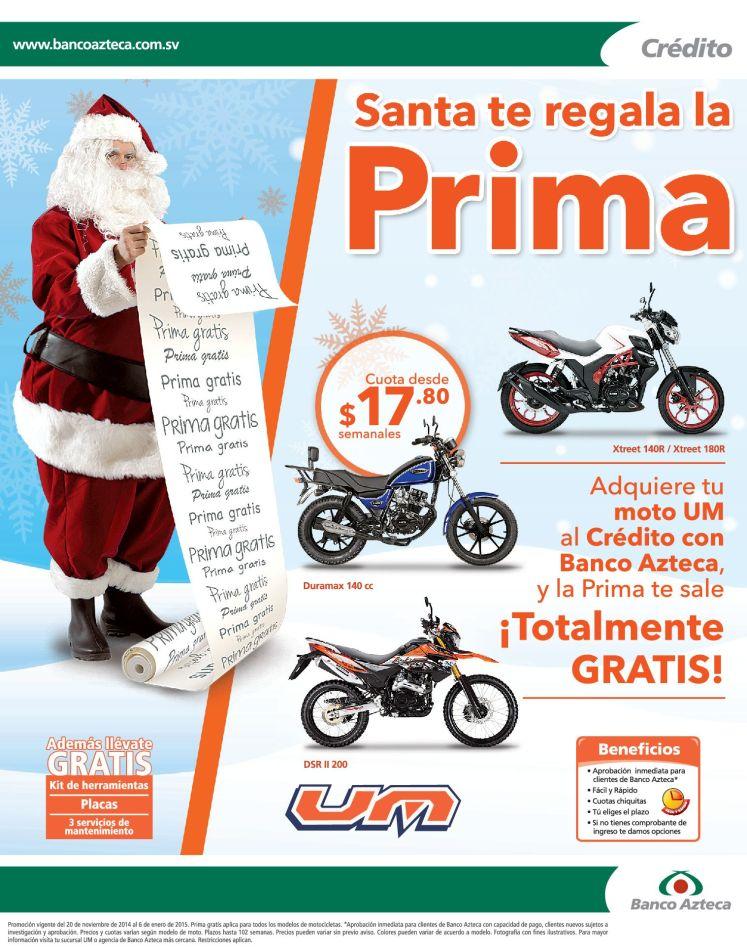 moto nueva en navidad SANTA CLAUS te regala la prima - 22dic14