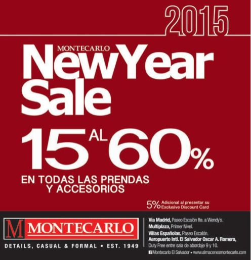 new year SALE for gentlemans