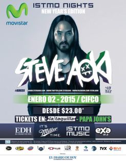 new year party ISTMO MUSIC steve aoki