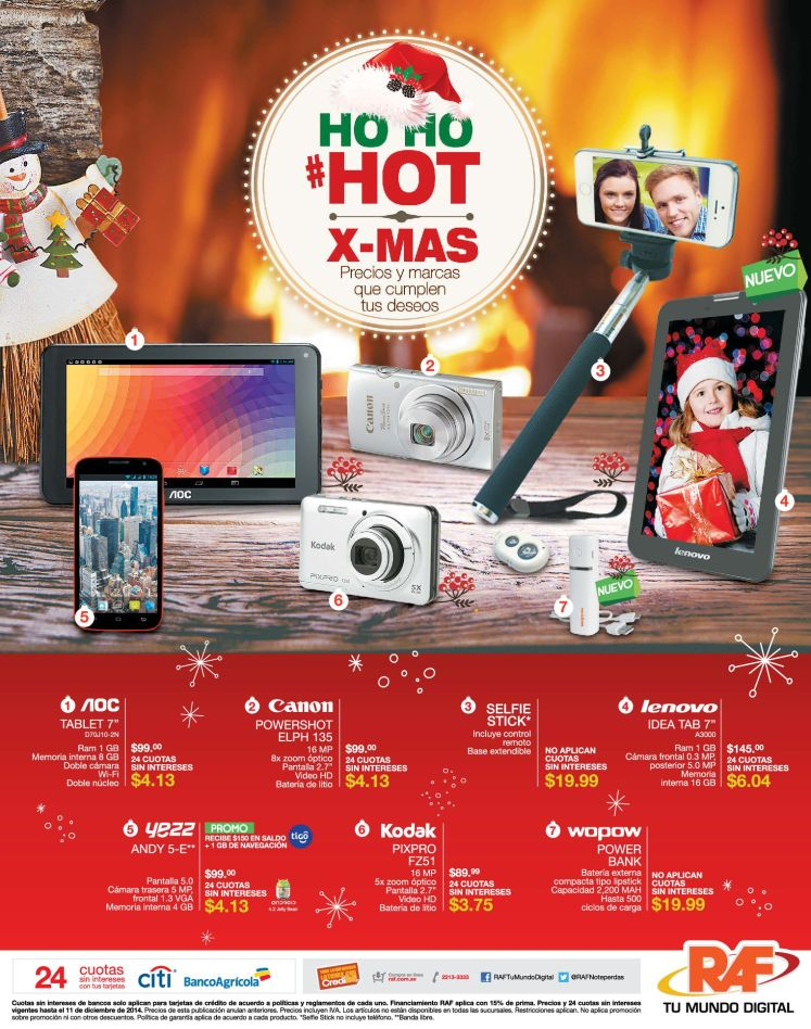 oferta TABLET lenovo 7 pulgadas HOT promotion christmas - 03dic14