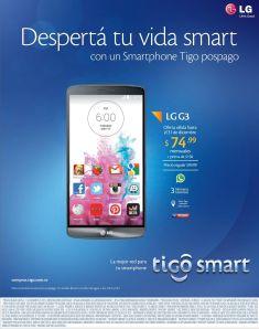 powerfull SMARTPHONE LG G3 by TIGO smart - 04dic14