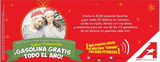 promocion alba petroleos gasolina gratis 2015