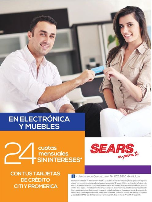 ATENTION electronic and furniture SEARS promotions - 16ene15