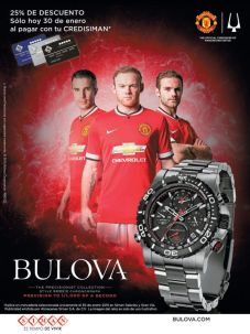 BULOVA watches precisionist Manchester United sponsor sale by SIMAN