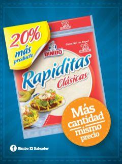 Bimbo el salvador promocion RAPIDITAS clasicas - ene 15