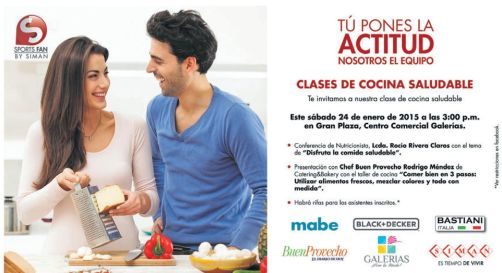 CLASES de cocina saludable - 20ene15