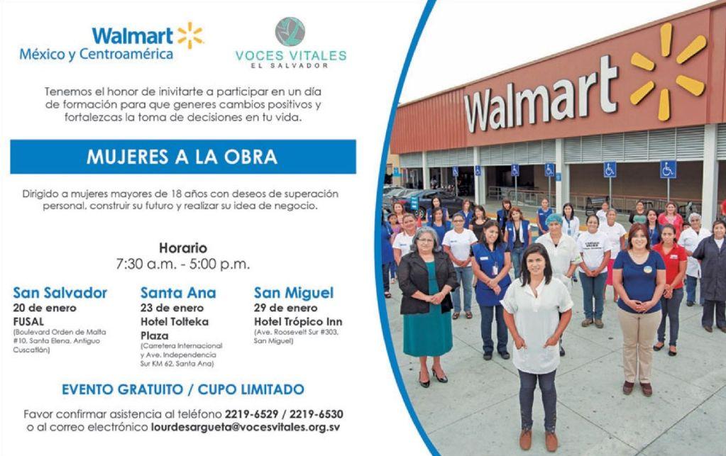 Evento gratuito MUJERES A LA OBRA gracias a WALMART - 12ene15