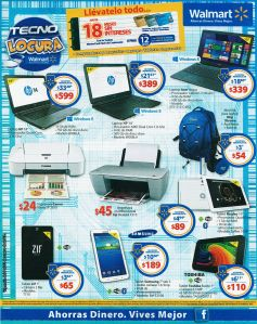 Fin de semana WALMART ofertas en tecnologia - 09ene15