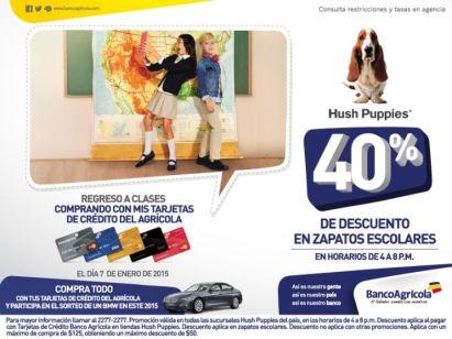 HUSH PUPPIES descuento zapatos escolares banco agricola - 07ene15