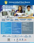 Inscribirse y estudiar en la Universidad Don Bosco 2015