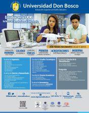 Inscribirse y estudiar en la Universidad Don Bosco 2015