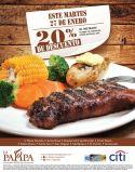 Last chance LA PAMPA argentina restaurante DISCOUNT - 27ene15