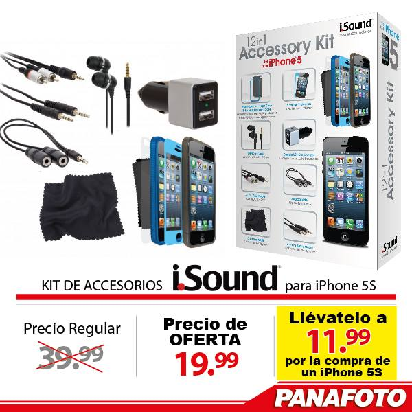 PANAFOTO ofertas Accesories KIT iSOund for iphone - 03ene15