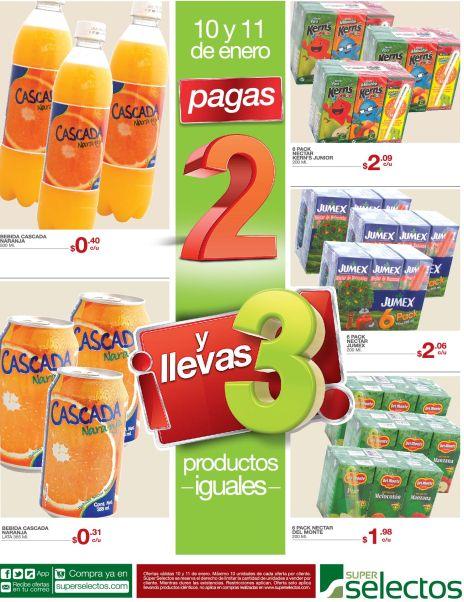 Promocion SUPER SELECTOS Pagas 2 te llevas 3 - 10ene15