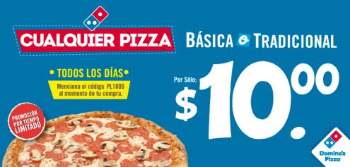 Promociones DOMINOS todas las pizzas 10 dolares