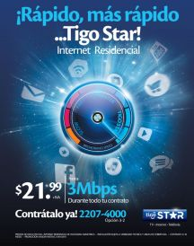TIGO oferta internet de alta velocidad 3MB - 20ene15