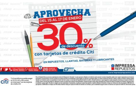 Tarjetas CITI BANK respuesto impresa - 14ene15