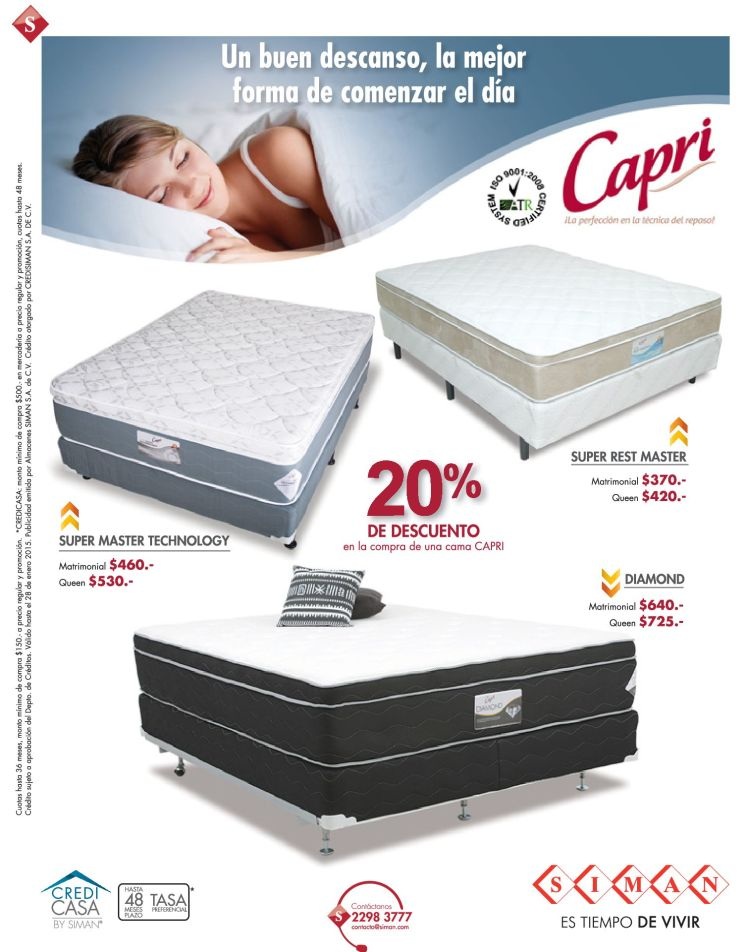 The best way to rest BEDS CAPRI - 23ene15