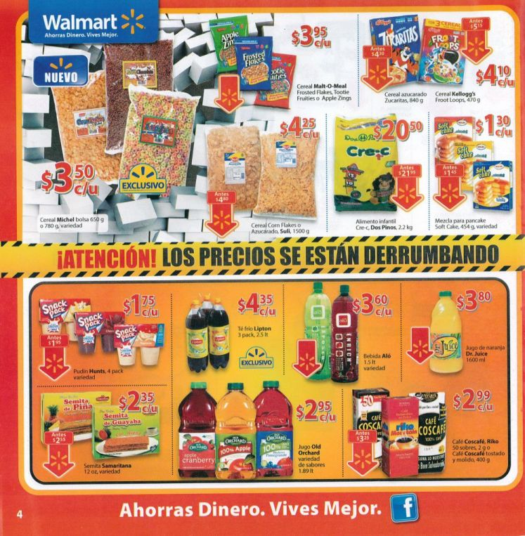 WALMART cereales y  bebidas - 07ene15