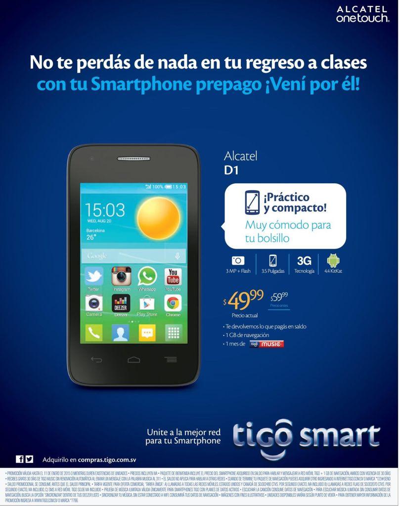 low cost smartphone ALCATEL D1