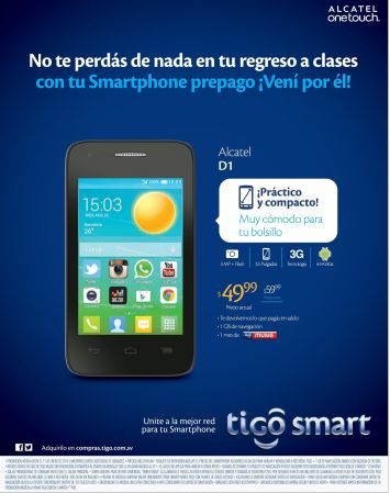 low cost smartphone ALCATEL D1