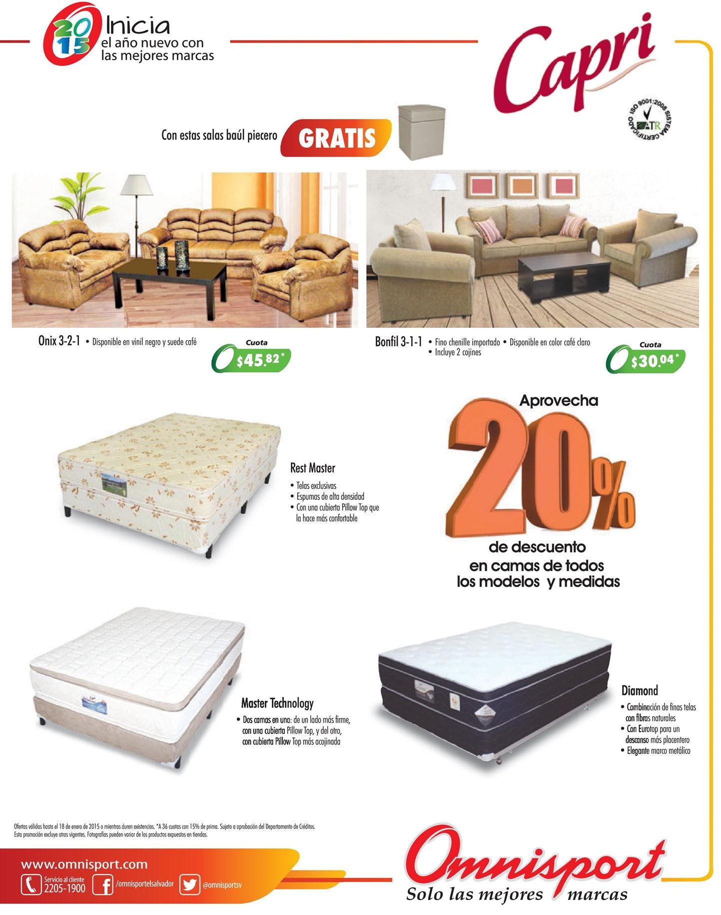 muebles y camas con descuento OMNISPORT - 15ene15 - Ofertas Ahora