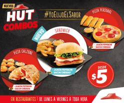 new HUT COMBOS de pizza hut por 5 dolares