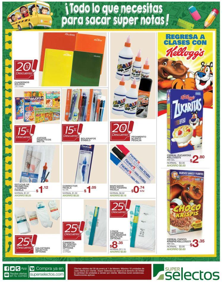 ofertas en cuadernos y utiles escolares - 30ene15