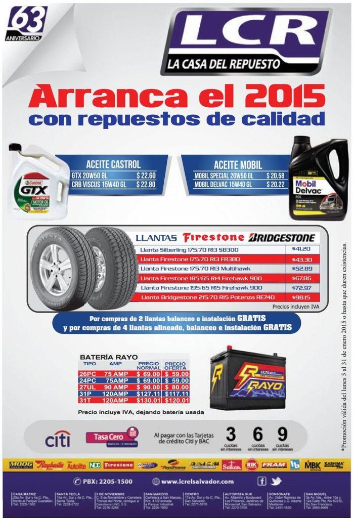 promociones en llantas baterias y aceites - 05ene15