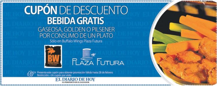 BUFFALO WINGG coupon enjoy at Plaza Futura - 06feb15