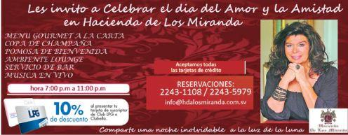 CElebremos el 14 de febrero en HAcienda de los Miranda