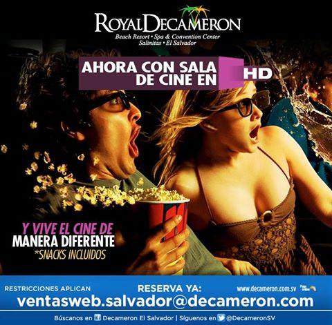 Decameron EL SALVADOR ahora con sala de cine HD