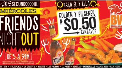 FRIENDS night out promotion BUFFALO WINGS - 11feb15