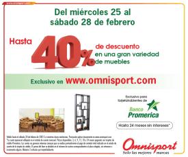 FURNITURE discount Banco promerica en OMNISPORT - 26feb15