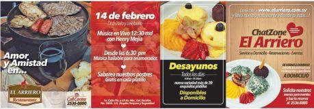 Fiesta 14 de febrero restaurante EL ARRIERO