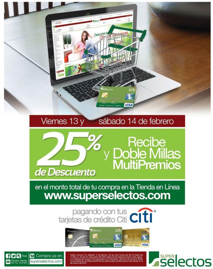 Fin de Semana DESCUENTOS en super selectos con CITI - 13feb15