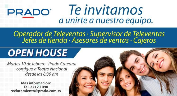 JOBS open house opportunity PRADO - 10feb15