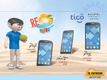LA CURACAO promociones alcatel smartphone series