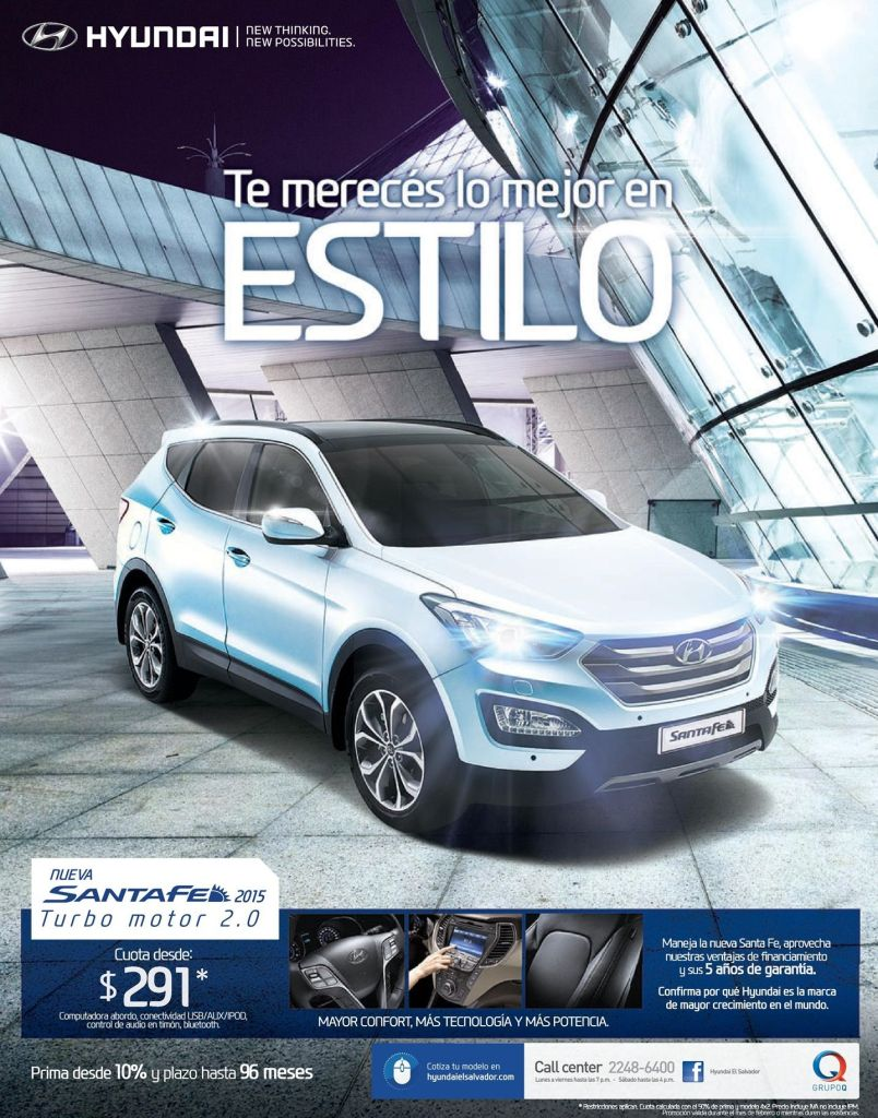 Offer auto motor turbo SANTA FE hyundai 2015