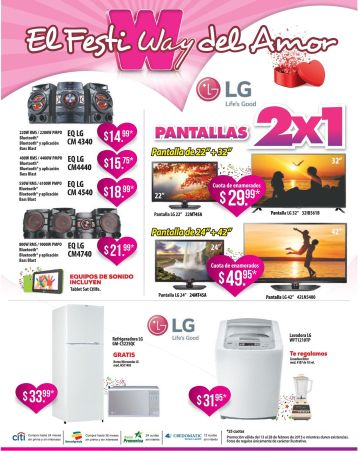 Promociones WAY del dia del amor - 13feb15