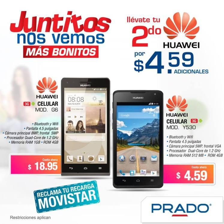 Segundo celular HUAWEI baratisimo en PRADO - 24feb15