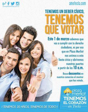 Si VOTAS descuentos en plaza merliot - 27feb15
