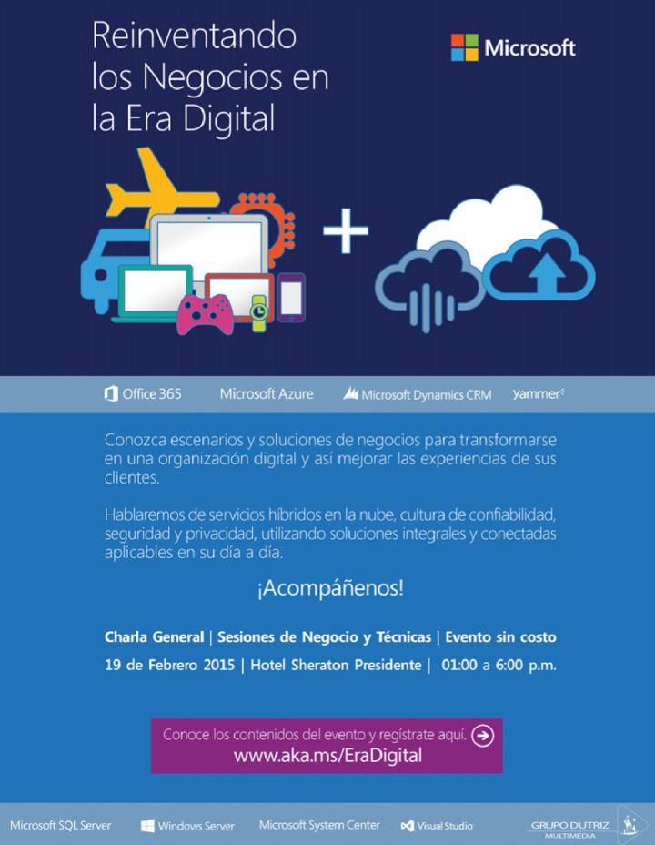 evento Microsoft era digital contenidos en la nube