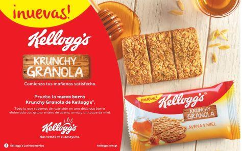 nuevas KELLoGGS Crunchy granola desayuno ideal